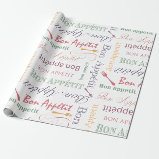 Bon Appetit Foodie Gifts French Chef Wrapping Paper