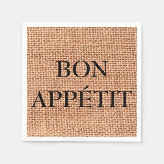 Bon Appétit Jute Pattern Napkin Disposable Napkins