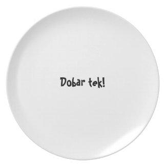 Bon appetit plate series - Croatian - Dobar tek