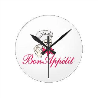 Bon Appetit Round Clock
