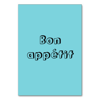 Bon appetit table cards
