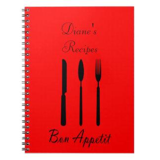 Bon Appetit Table Setting Recipe Notebook
