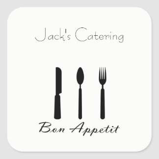 Bon Appetit Table Setting Sticker