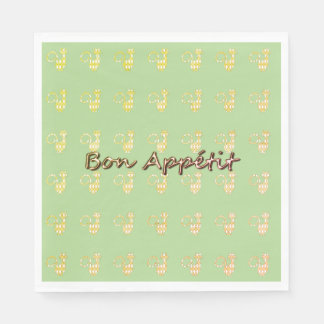 Bon-Appetite--Cat-Harlequin-Diamond--Celebrate Disposable Serviette