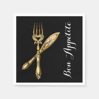 Bon appetite knife fork businesses disposable serviettes