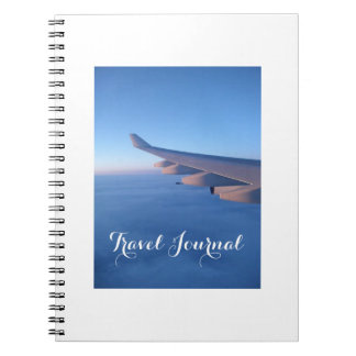 Bon Voyage Blue Sky Flight Travel Journal Notebook