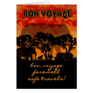 Bon Voyage Card - African scenery Farewell Card