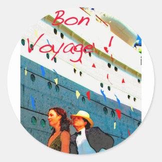 Bon Voyage Classic Round Sticker