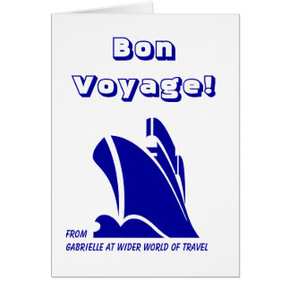 Bon Voyage from Custom Card