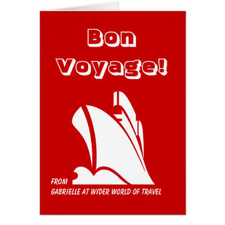 Bon Voyage from Custom Card Red
