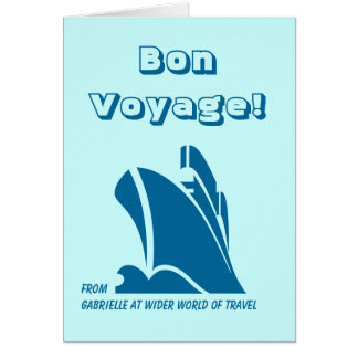 Bon Voyage from Custom Card Teal