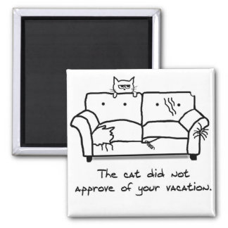 Bon Voyage from the Cat - Funny Cat Fridge Magnet