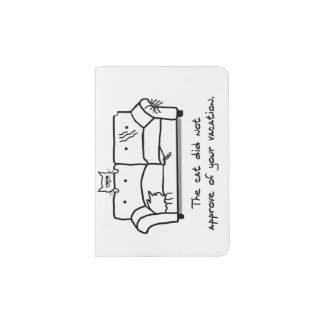 Bon Voyage from the Cat - Funny Cat Gift Passport Holder