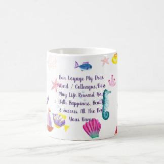 Bon Voyage Gift Personalized Sea Creature Themed Coffee Mug