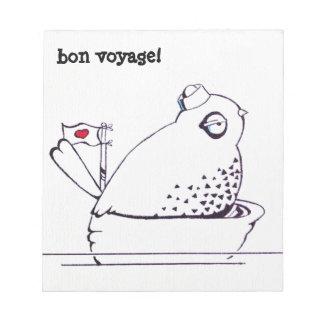 bon voyage! little sailor bird notepad