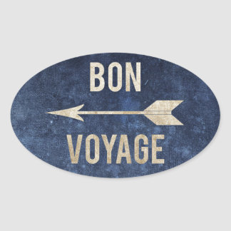 Bon Voyage Oval Sticker