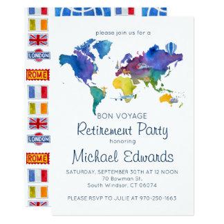Bon Voyage Retirement Party Invitation