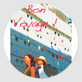 Bon Voyage Round Sticker