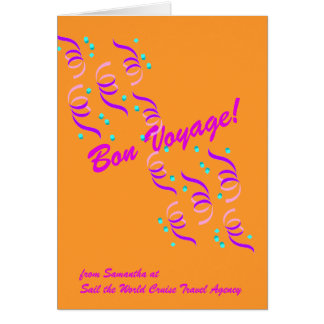 Bon Voyage Wishes in Gold G4C Greeting Card