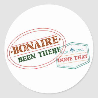 Bonaire Been There Done That Classic Round Sticker