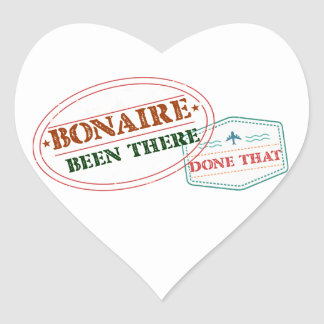 Bonaire Been There Done That Heart Sticker