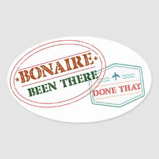 Bonaire Been There Done That Oval Sticker