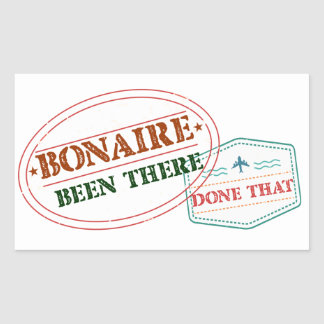 Bonaire Been There Done That Rectangular Sticker