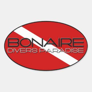 Bonaire Diver s Paradise Oval Sticker
