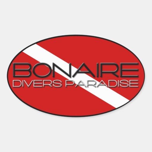 Bonaire Diver's Paradise Oval Sticker