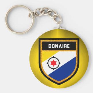 Bonaire Flag Basic Round Button Key Ring
