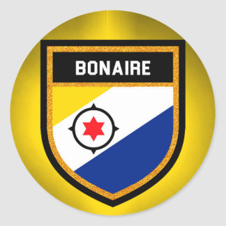 Bonaire Flag Classic Round Sticker