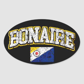 Bonaire Flag Oval Sticker
