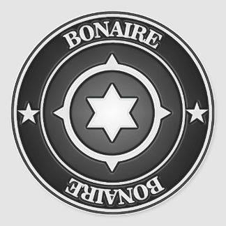 Bonaire Round Emblem Classic Round Sticker