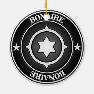 Bonaire Round Emblem Round Ceramic Decoration