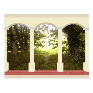 Bonamargy Friary through Archway Postcard