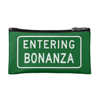 Bonanza, Road Marker, Oregon, USA Makeup Bags