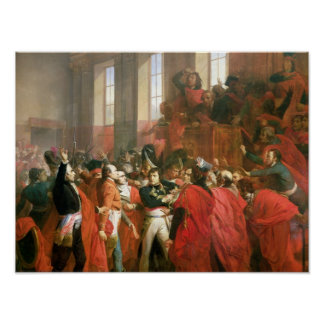 Bonaparte and Council of Five Hundred at St. Poster