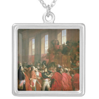 Bonaparte and Council of Five Hundred at St. Silver Plated Necklace