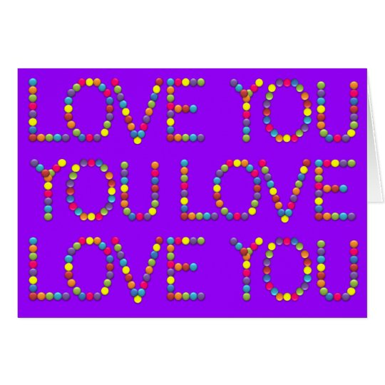 BonBon It's all about Love - I love you Card
