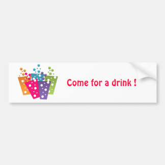 BonBon Party Funky Groove Party Drinks Bumper Sticker