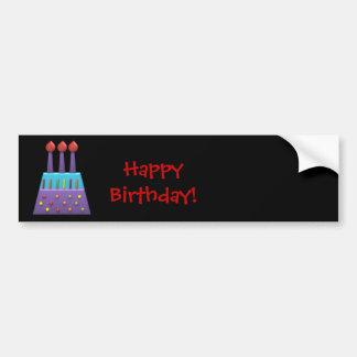 BonBon Party Happy Birthday colorful candels Bumper Sticker