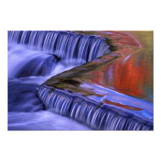 Bond Falls; Reflecting Fall Colored Leaves; Art Photo