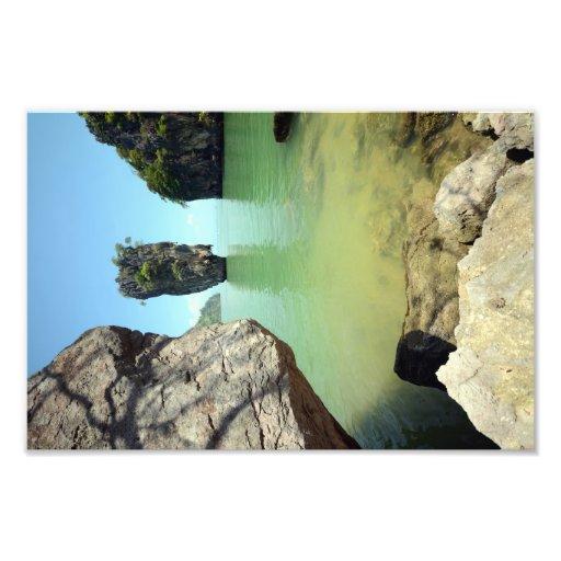 bond island thailand famous touristic landmark art photo