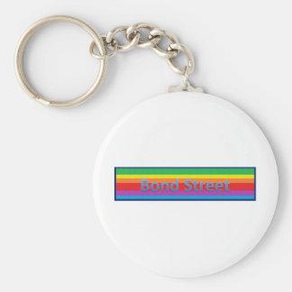 Bond Street Style 3 Basic Round Button Key Ring