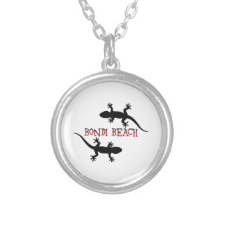 Bondi Beach Australia Silver Plated Necklace
