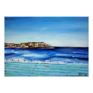 Bondi Beach Icebergs...my fav colour is blue Poster