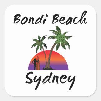 bondi beach sydney square sticker