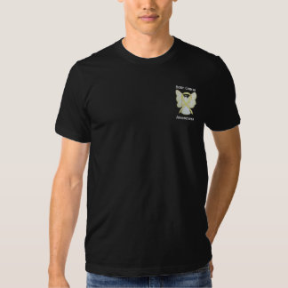 Bone Cancer Awareness Ribbon Angel Custom Shirts