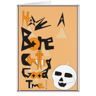 Bone Chilling Halloween Greeting Card