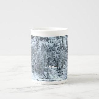 """Bone China Mug - """"Winter Day At Yellowstone"""""""
